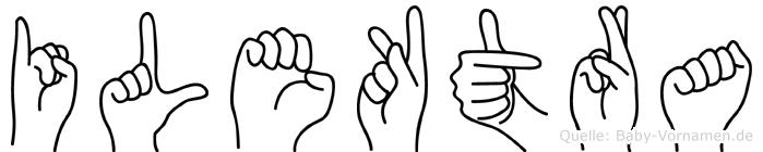 Ilektra in Fingersprache für Gehörlose