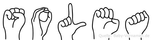 Solea im Fingeralphabet der Deutschen Gebärdensprache