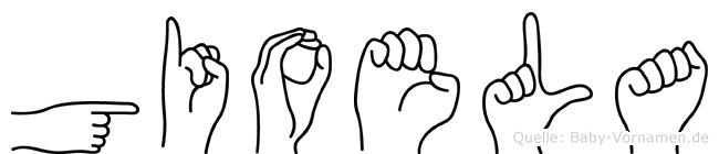 Gioela im Fingeralphabet der Deutschen Gebärdensprache