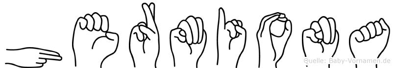 Hermiona im Fingeralphabet der Deutschen Gebärdensprache