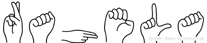 Rahela in Fingersprache für Gehörlose
