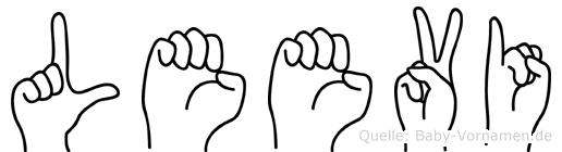 Leevi im Fingeralphabet der Deutschen Gebärdensprache