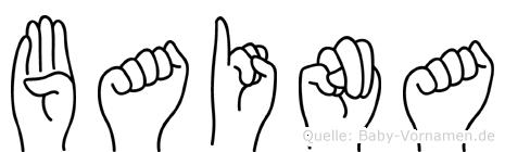 Baina in Fingersprache für Gehörlose
