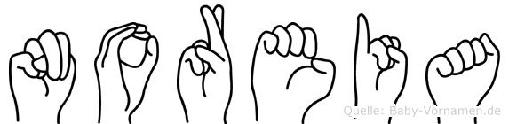 Noreia in Fingersprache für Gehörlose