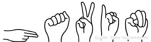 Havin im Fingeralphabet der Deutschen Gebärdensprache