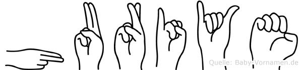 Huriye in Fingersprache für Gehörlose
