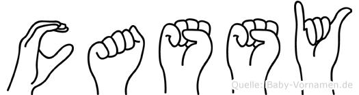 Cassy in Fingersprache für Gehörlose
