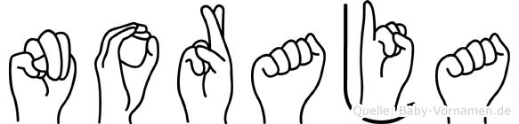 Noraja in Fingersprache für Gehörlose