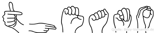 Theano im Fingeralphabet der Deutschen Gebärdensprache