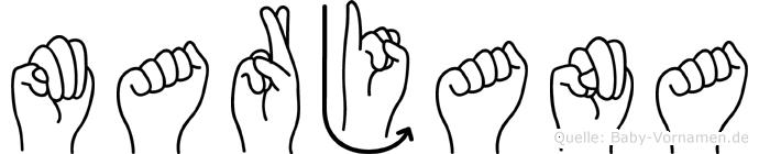 Marjana in Fingersprache für Gehörlose
