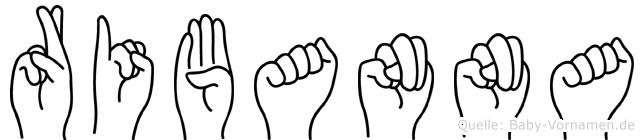 Ribanna im Fingeralphabet der Deutschen Gebärdensprache