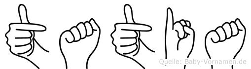 Tatia in Fingersprache für Gehörlose