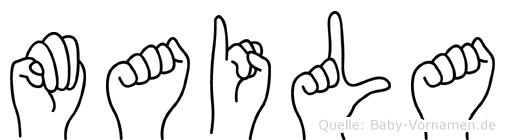 Maila im Fingeralphabet der Deutschen Gebärdensprache