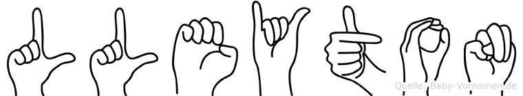 Lleyton im Fingeralphabet der Deutschen Gebärdensprache
