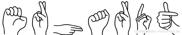 Erhardt in Fingersprache für Gehörlose