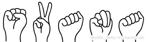 Svana im Fingeralphabet der Deutschen Gebärdensprache