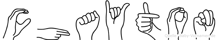 Chayton im Fingeralphabet der Deutschen Gebärdensprache