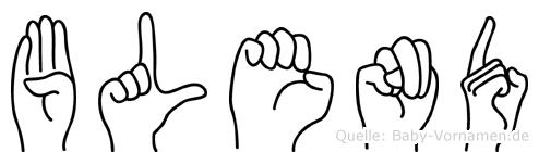 Blend in Fingersprache für Gehörlose