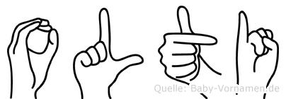 Olti in Fingersprache für Gehörlose