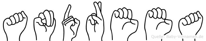 Andreea im Fingeralphabet der Deutschen Gebärdensprache