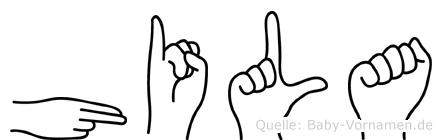 Hila in Fingersprache für Gehörlose