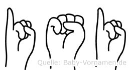 Isi in Fingersprache für Gehörlose