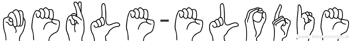 Merle-Elodie im Fingeralphabet der Deutschen Gebärdensprache