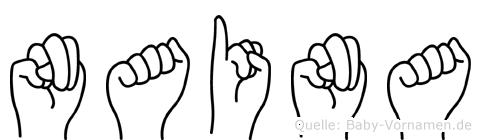 Naina im Fingeralphabet der Deutschen Gebärdensprache