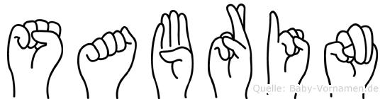 Sabrin in Fingersprache für Gehörlose