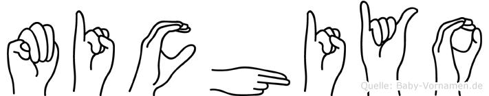 Michiyo im Fingeralphabet der Deutschen Gebärdensprache
