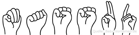 Massud in Fingersprache für Gehörlose