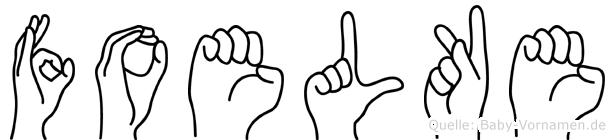 Foelke im Fingeralphabet der Deutschen Gebärdensprache