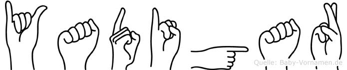 Yadigar im Fingeralphabet der Deutschen Gebärdensprache