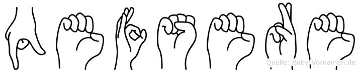 Qefsere in Fingersprache für Gehörlose