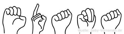 Edana in Fingersprache für Gehörlose