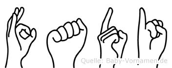 Fadi im Fingeralphabet der Deutschen Gebärdensprache