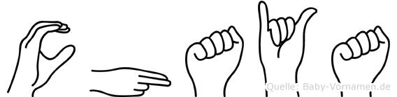 Chaya in Fingersprache für Gehörlose