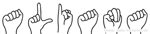 Aliana in Fingersprache für Gehörlose