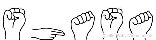 Shasa im Fingeralphabet der Deutschen Gebärdensprache