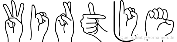 Wirtje in Fingersprache für Gehörlose