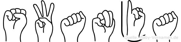 Swanja in Fingersprache für Gehörlose