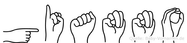 Gianno im Fingeralphabet der Deutschen Gebärdensprache
