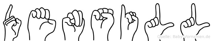 Densill im Fingeralphabet der Deutschen Gebärdensprache