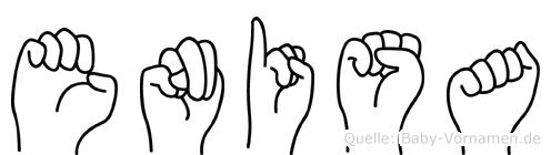 Enisa im Fingeralphabet der Deutschen Gebärdensprache