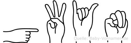 Gwyn in Fingersprache für Gehörlose
