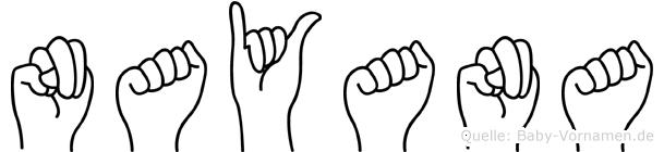 Nayana in Fingersprache für Gehörlose
