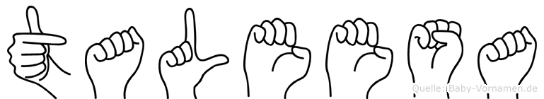 Taleesa in Fingersprache für Gehörlose