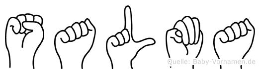 Salma im Fingeralphabet der Deutschen Gebärdensprache