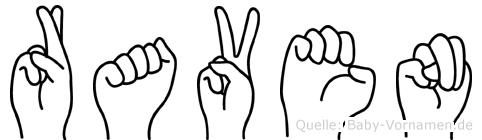 Raven in Fingersprache für Gehörlose