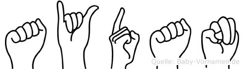 Aydan in Fingersprache für Gehörlose